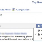 Facebook Adds New Status Privacy Features